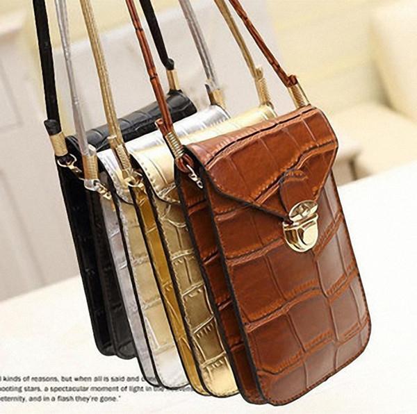 Fashion women shoulder crossbody mini bag messenger vintage PU leather phone handbag top quality free shipping