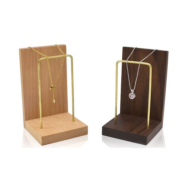 Espositore per gioielli in legno massello Espositore per posate Gioielli per gioielli Orecchini per orologi Espositore per vetrine Espositore per fiere