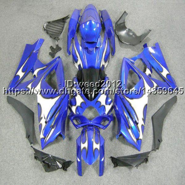 Custom-color + 5Gifts capucha de motocicleta azul para Suzuki muchos esquema de pintura K7 GSX-R1000 2007-2008 GSXR 1000 07 08 carenado de plástico ABS