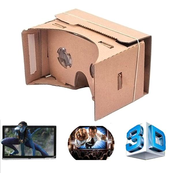 1000pcs High quality DIY Google Cardboard Virtual Reality VR Mobile Phone 3D Viewing Glasses for 5.5