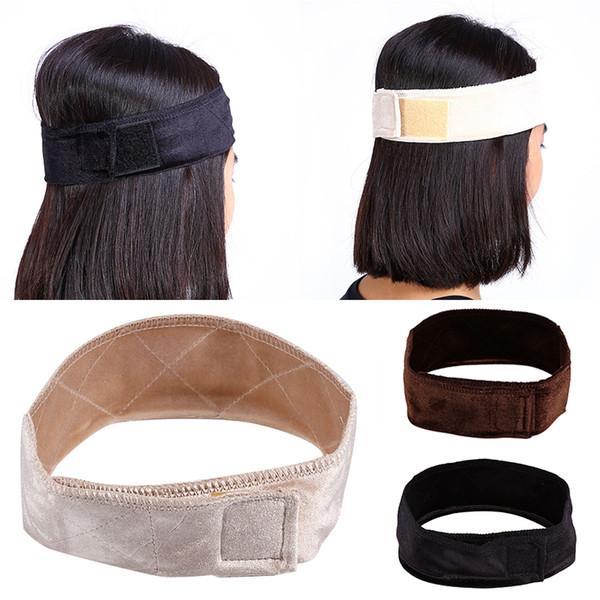 Maytir 3 colores ajustable tela de terciopelo flexible peluca de agarre bufanda diadema banda para la cabeza sujetar peluca para la herramienta de peinado