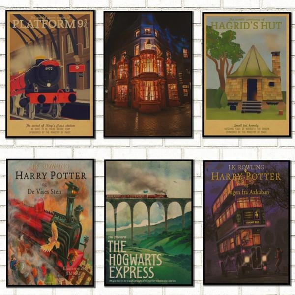 Vintage Poster Hogwarts Express Winkelgasse Hogsmeade usw. Film / Kraftpapier Filmposter / 7003