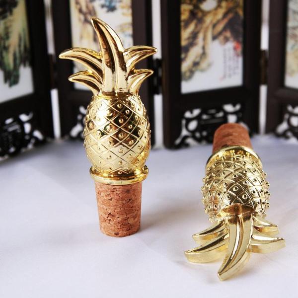 Legierung Rotwein Stopper Ananas Obst Form Vergoldung Stecker Hochzeit Zeremonie Festival Geschenk Flasche Stopper Party Supplies 5 8 mw ff