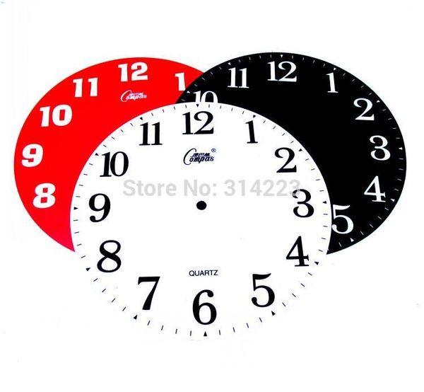Acrílico Dial Individualidad Reloj de Pared Creativo Movimiento Diy Reloj Piezas Accesorios Creativo Diy Reloj Digital Cara 25 cm
