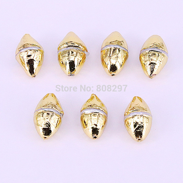 New Style 10Pcs Metal Plated Gold Freshwater Pearl Connector Spacer Beads, for DIY Making Bracelet necklace Jewelry Finding