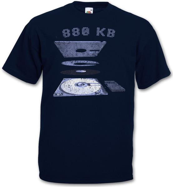Explosão 3.5 Disquete T-shirt-Commodore Amiga 500 Disquete 880 Kb T-shirt Camisa de Verão T Da Marca de Fitness Body Building 2018