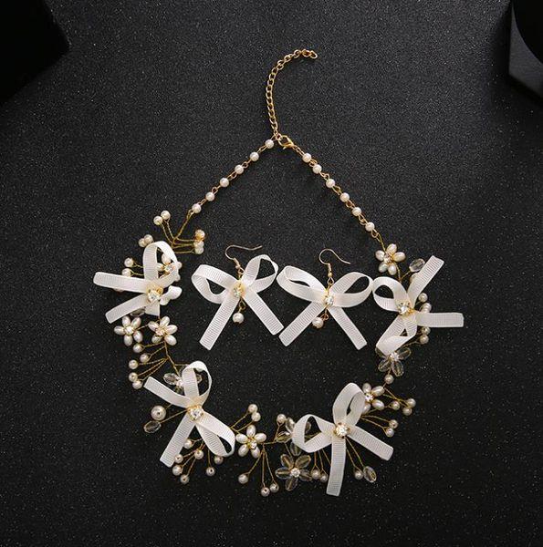 Свадебные головные уборы невесты Серьги Свадебные ожерелья Ювелирные изделия Аксессуары для свадебных платьев новая цепочка продуктов