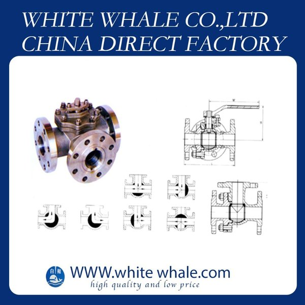 Good quality Flange Connecting L type three-way 1 inch Stainless Steel 304 ball valve with handle
