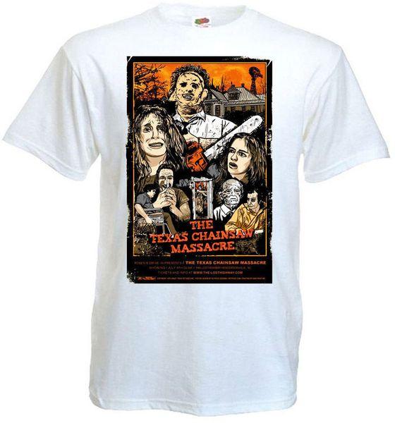 Das texas kette sah massacre v11 t shirt weiß movie poster alle größen 2018 hochwertige casual kurzarm marke männer t shirt