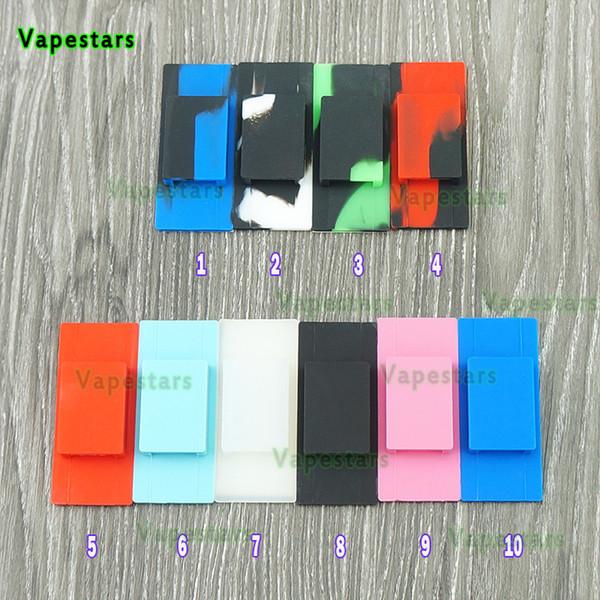 Silicone Phone Holder Back Cases Rubber Sleeve Cover Skin Enclosure for Jul Vape Pen Jul Pods Wraps Pod Cartridge Starter Kit Necklace DHL