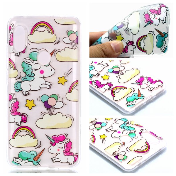 Phone Protector Cover For Xiaomi MI Redmi Note 6 Max 3 Pocophone F1 Printing Colorful Soft TPU Transparent Back Case