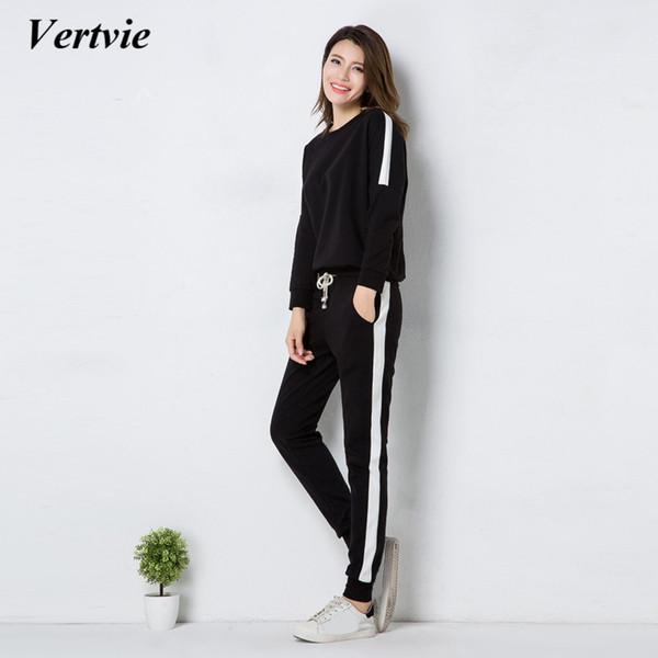 Vertvie Women's Tracksuit Sport Clothing Yoga Set Fitness Gym Jogging Suit 2 Pieces Yoga Clothes Women Sportswear Jumpsuit