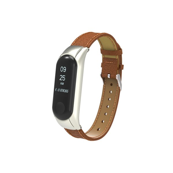 Hot sale leather strap For Xiaomi Mi Band3 Wristband Leather Strap Wrist for Miband 3 band Bracelet