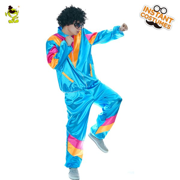 Men's Hippie Costume Halloween Party Fancy Dress Funny Carnival Party Costumes For Cheer Role Play Hippie Suit