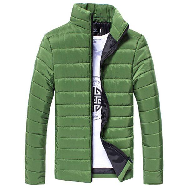 Homens Casaco 2017 Novos Homens Da Moda Coon Stand Zipper Outono Inverno Quente Grosso Casual Sólida Casaco Masculino Jaqueta M-3XL Plus Size Sep 22
