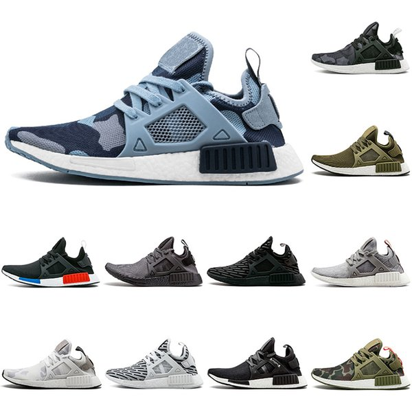 Hot sale NMD XR1 PK Running Shoes Sneaker XR1 Primeknit OG PK Zebra Bred Blue Shadow Noise Duck Camo Fall Olive size 36-45