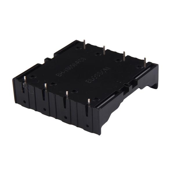 top popular 1Pcs Battery Box Holder Batteries Case for 4x18650 in Parallel 3.7V Pole Black 2021