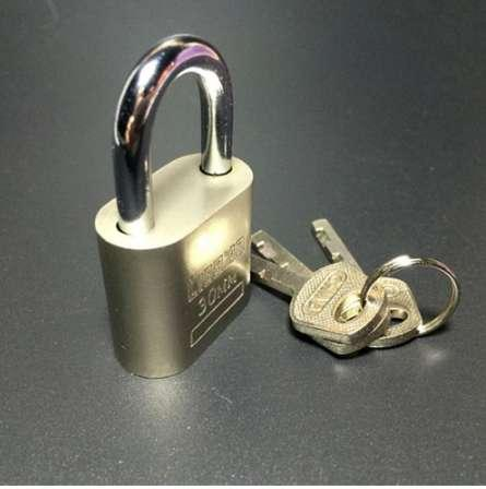 best selling New Cabinet Luggage Security Metal Lock Padlock Gold Silver Tone with 3 Keys Home Improvement Hardware Locks