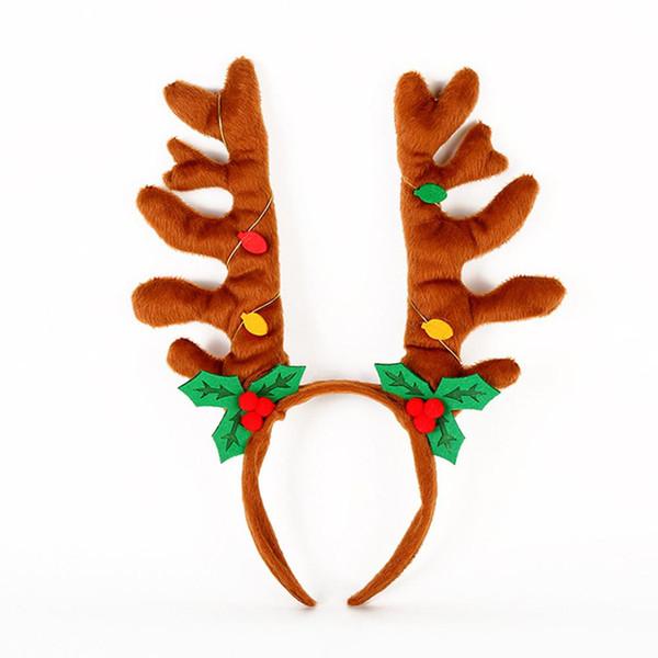 mrwonder women christmas hairband antlers elf jingle bells head hoop costume accessories