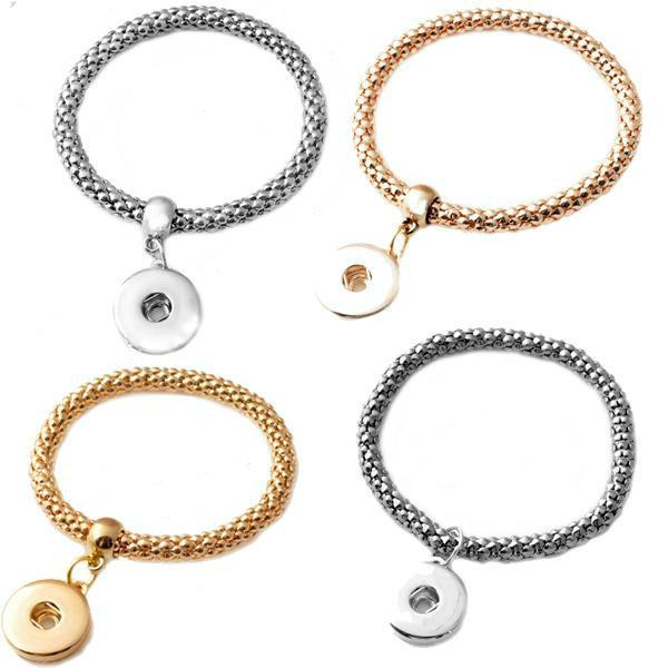 Hot Sale NOOSA Metal Snap Button Charm Bracelet Interchangeable Jewelry Ginger Snaps Jewelry Fashion DIY Jewelry For Women Bracelets Charms