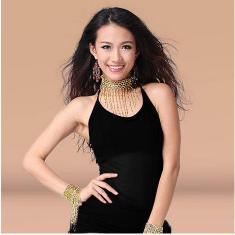Belly dance cheap 9 colors belly dance top for girls,Square latin clothes/ Crystal Cotton dancing vest