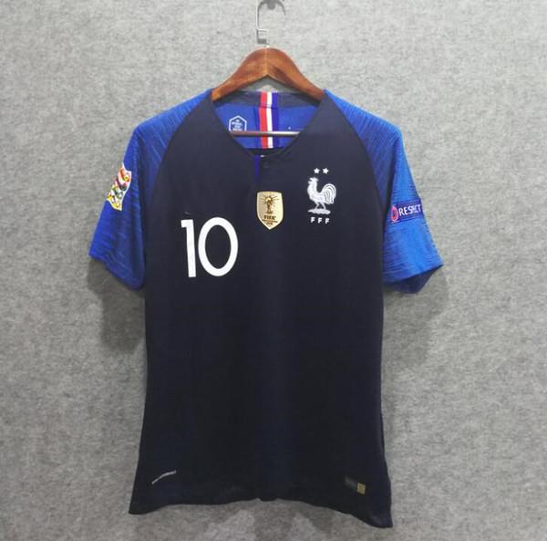 laatu noukkia uudet alhaisemmat hinnat 2018 Euro Qualifier 2018 France Soccer Jerseys Home Player Version Aaa  Football Shirts Custom Griezmann 7 Mbappe 10 Pogba 6 2 Stars Adult Suit  From ...