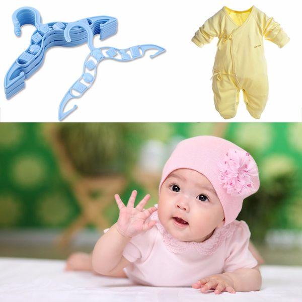 40 x Crianças Bebê Roupas Casaco de Plástico Garment Calças Cabides de Roupas de Secagem Azul Rack Cabide de Poupança de Espaço Transporte da gota