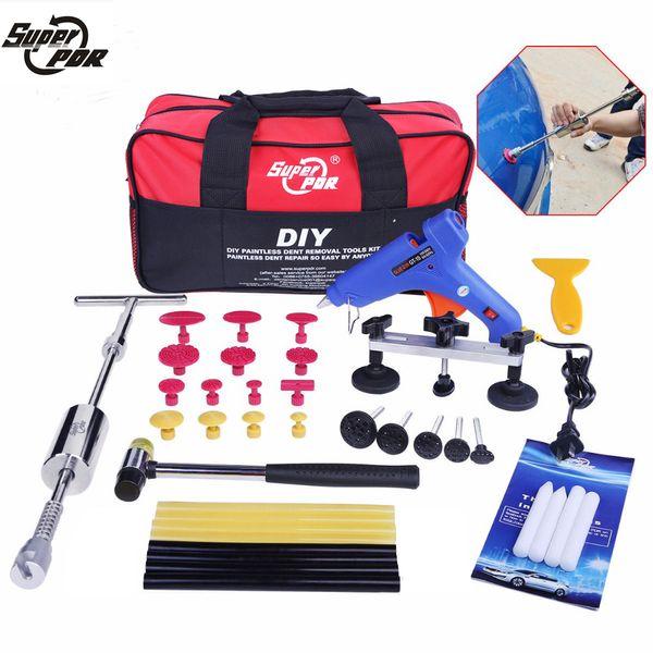 Kit di riparazione di ammaccature estrattore Dent Paintless Removal utensile per la rimozione dellaria attrezzi per auto Dent Puller carrozzeria Dent Removal Tool Kit martello pneumatico