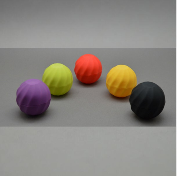 Blank Cosmetic Ball Container 7g 5colors Lip Balm Jar Eye Gloss Cream Sample Case Red Orange Purple Green Black