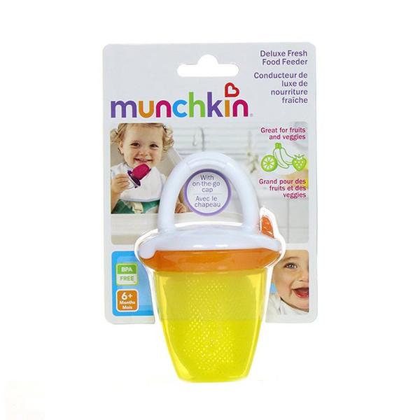 1 Unids Bebé Chupete Alimentos Frescos Nibbler Alimentador Munchkin Pratical Nipple Alimentación Suministros Pacifie Molar Dientes Botellas 24 5my ii