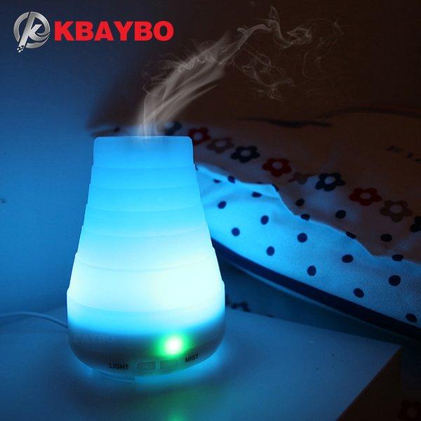 KBAYBO Ätherisches Öl Diffusor 100 ml Aroma Ätherisches Öl Kühler Nebel Luftbefeuchter 7 Farbe Led-leuchten Ändern für Home Office Baby