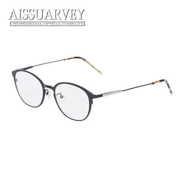 3e55dcfa6a Titanium Glasses Frames for Men Women Eyewear Optical Eyeglasses Fashion  Brand Designer Prescription Round Circle Top Quality