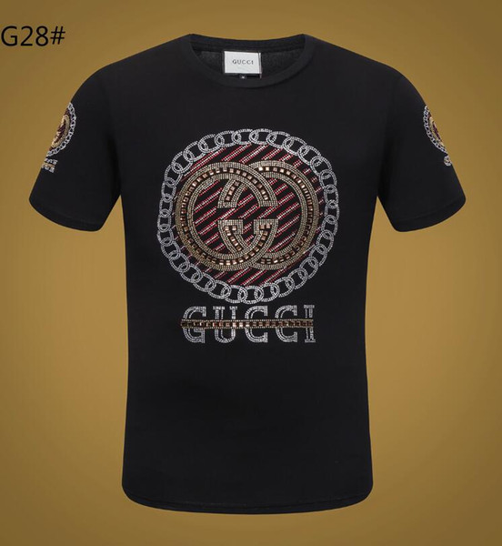 2018 summer fashion T-shirt the latest men's advanced printing, high quality fabrics, fashion fashion small round collar T-shirt.-2