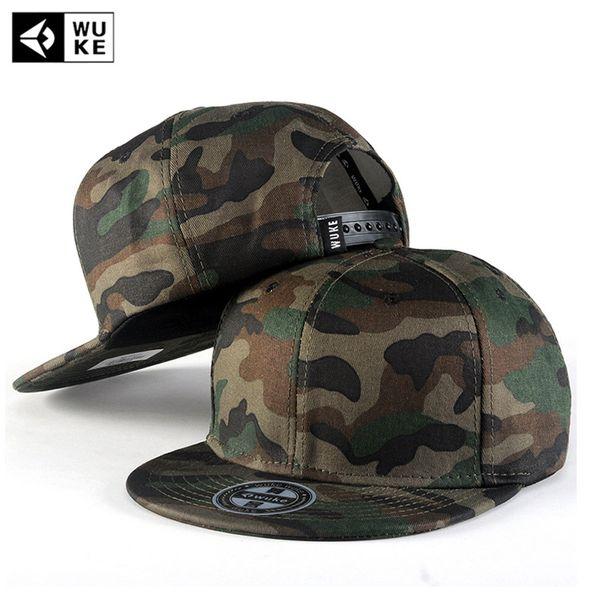 [wuke] camo snapback caps new flat designer adjustable hip hop hats for men women camouflage baseball bboy cap style unisex thumbnail