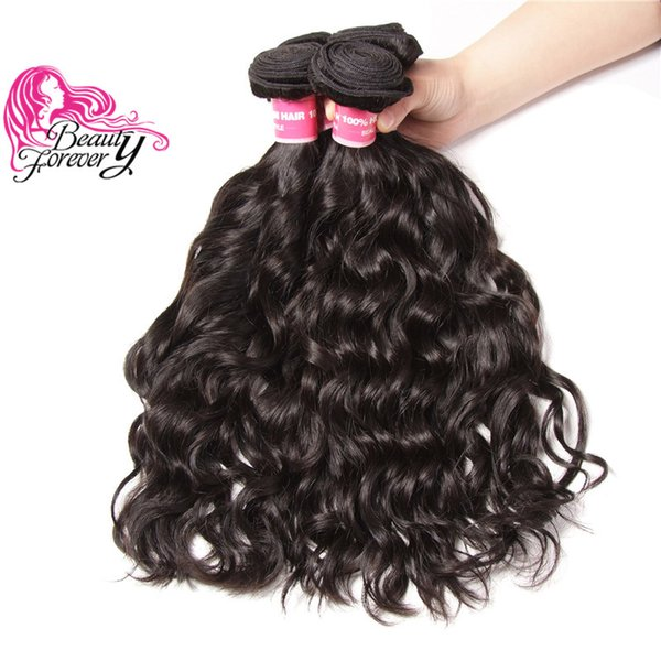 Beauty Forever Natural Wave Brazilian Hair 4 Bundles Unprocessed Human Hair 8-26inch Natural Color Hair Weave Wholesale Virgin Extension 8A