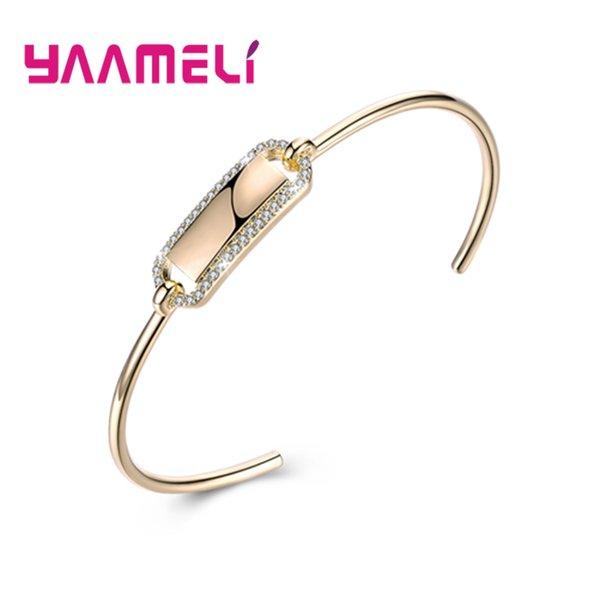 YAAMELI I più venduti Nuove donne di design di moda Romantico 925 Sterling Silver Piccolo cristallo pavimentato Bracciali Bangles Grande vendita