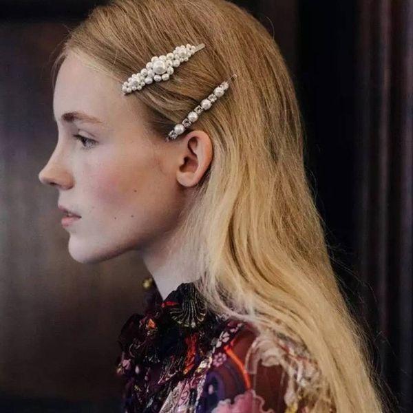 6bce484dd Moda Rhinestone Perla Horquillas para niñas Pasadores de moda Clip de pelo  Abrazadera Joyería Herramientas de