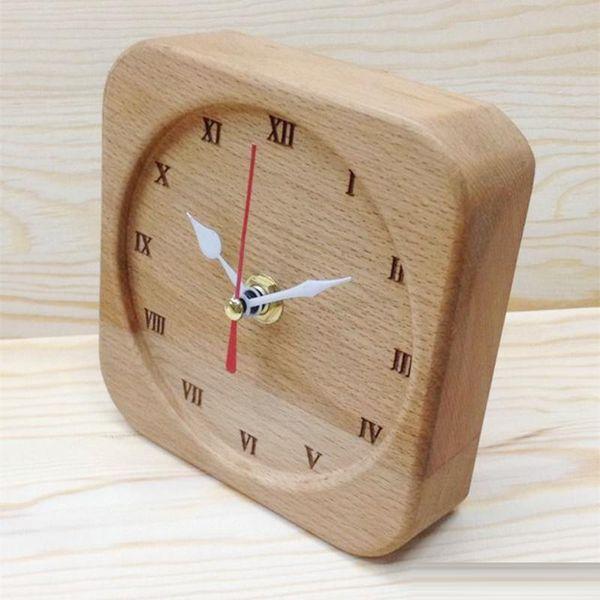 2019 Home Office Table Clock Pure Beech Wood Clock Super Quiet Diy Creative Art Alarm Clock Home Office Decoration From Dhgate Garden 7 34