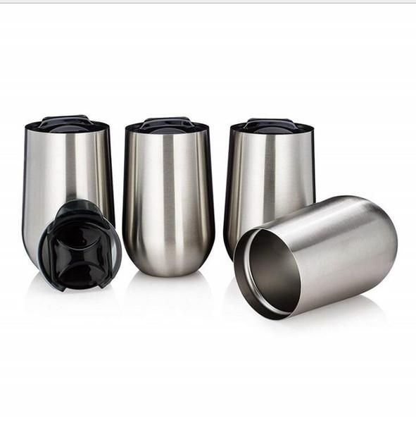 20PCS-16OZ coquetiers avec couvercles 304 acier inoxydable Tumbler Thermos Tasses à Café Bouteilles D'eau Parti Fournitures Flacon Verres