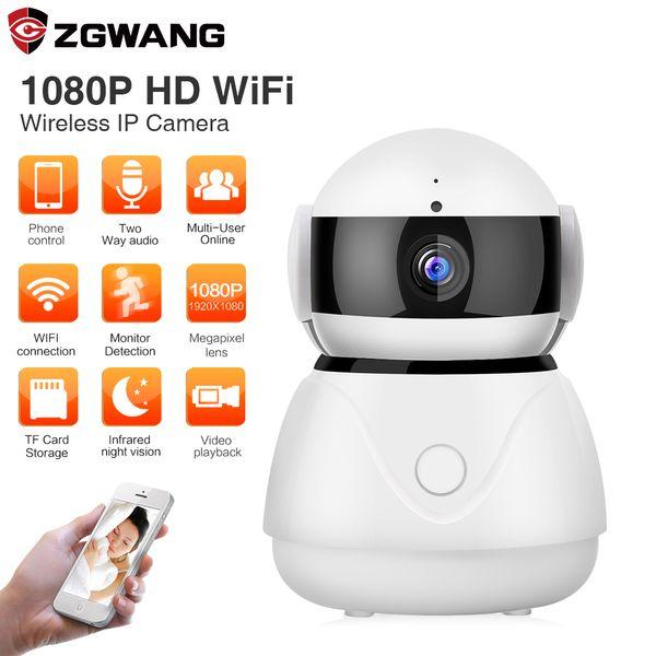 ZWGANG 1080P Cloud Storage Wifi Camera Night Vision CCTV Home Alarm Security Wireless IP Camera 2MP Pan Tilt Baby Monitor