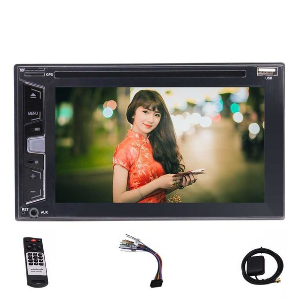 8GB Map Card 6.2'' Car Stereo Car DVD CD Player GPS Navigation Bluetooth,DVD/CD/MP3/USB/RDS Remote Wireless Rear Camera
