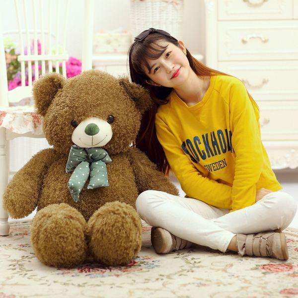 otturazioni giocattolo grande 100 cm verde orsacchiotto peluche morbido bambola tiro cuscino regalo di natale b1900