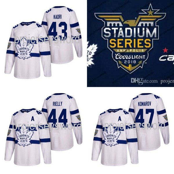 #43 Nazem Kadri Jersey Toronto Maple Leafs 2018 Stadium Series 16 Mitch Marner 29 William Nylander 32 Josh Leivo 31 Frederik Andersen Jersey