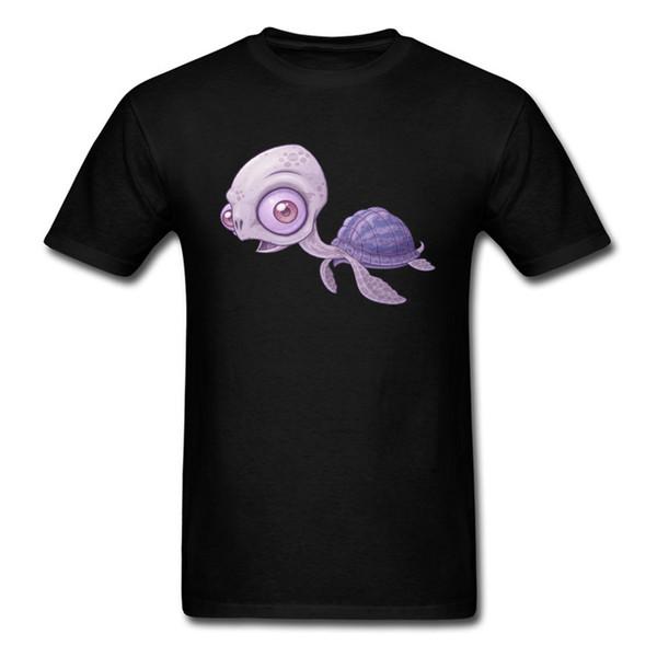 Морская черепаха футболка повседневная футболка 80s мужчины футболка негабаритных топы мультфильм тройники хлопок одежда Каваи дизайн подарок на День Рождения свитера