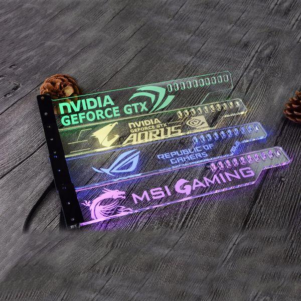 Uso de soporte de acrílico para Brace GPU Tamaño de tarjeta 280 * 45 * 6 mm Uso para tarjeta de video Fix 5050 RGB Light connect AURA GTX1080 RX580