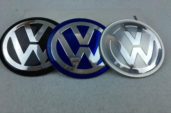 56.5mm 65mm aluminum Car VW Logo Wheel Hub Center Caps Emblem Styling Wheel Sticker For Volkswagen bora golf GTI passat polo