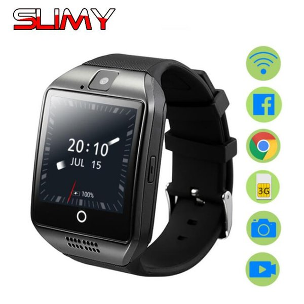Slimy Smart Watch Phone Android OS Smartwatch Q18 Plus With Camera 3G SIM Card Slot Wifi GPS Music Player for Kids