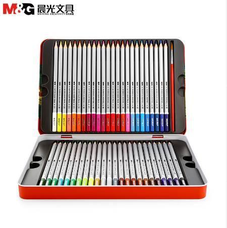 MG solúvel em Água cor lápis 24 cor 36 cor 48 chumbo pintura seis ângulo material escolar primário