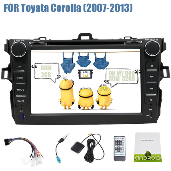 Android 7.1 Double Din Car DVD Player Stereo GPS Navigation Head Unit Autoradio Video 3G 4G WIFI Bluetooth OBD2 Mirror Link DAB