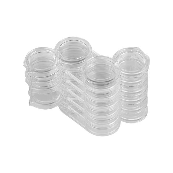 12 scanalature di arte del chiodo del rhinestone di plastica vuota scatola di immagazzinaggio dei monili di immagazzinaggio dei monili dell'esposizione del contenitore all'ingrosso del contenitore di caso